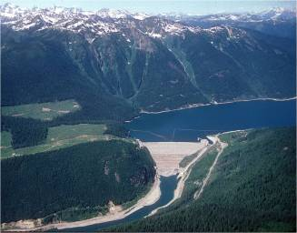 Mica Dam, BC Hydro, on Columbia River, British Columbia, Canada
