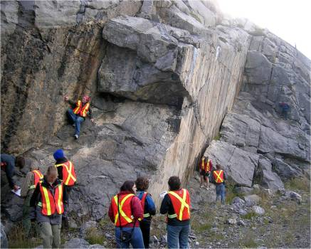 Field trip to Jasper National Park for geological mapping.