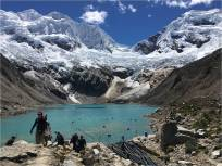 Field trip to Lake Palcachocha, Peruvian Andes to see glacial lake engineering and climate change effects.
